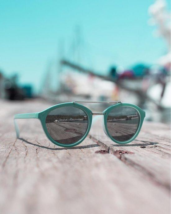 Gafas de Sol Volutto Turquesa Espejo Plata
