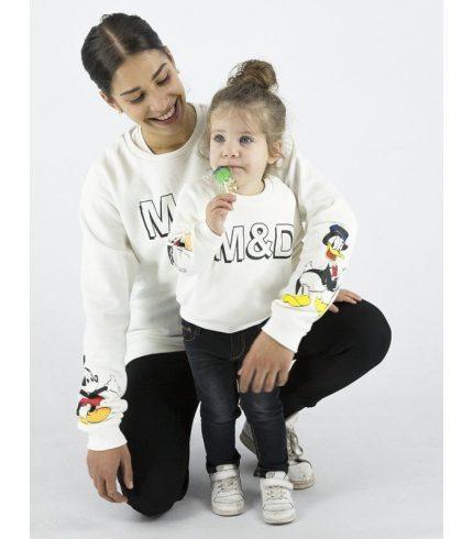 Sudadera Blanca Mama y Niña/o